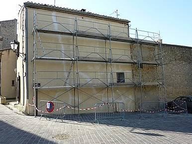 mur peint de la Place de l'Eglise - avant